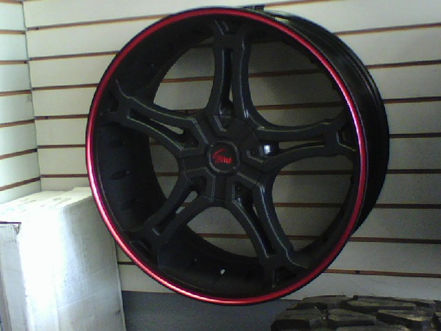 Gino 493 Series Black With Red Stripe Wheels Jk