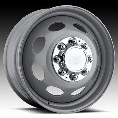 Vision Steel Silver Dually Wheels Wheels Jk
