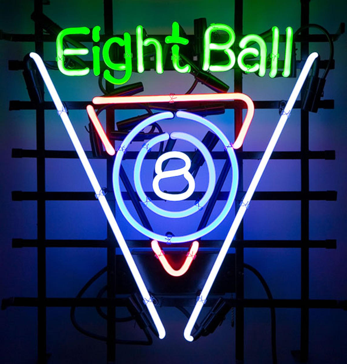 "On The Edge Marketing Neon Sign (Eight Ball)(19.5""x 21.5""x 6.5"")"