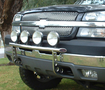 CHEVY07-08Silverado HD2500/3500 2WD / 4WD (minor trimming)Light Bar w/4 mounting tabsPolished Stainless75-23130