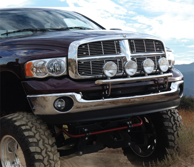 DODGE	02-05	Ram 2WD & 4WD 1500 (2500/3500 requires kit # 320-A)	Light Bar w/4 mounting tabs	Polished Stainless	75-32030