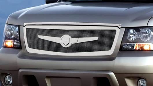 Lexani Chevy Tahoe/Suburban/Avalanche Main Grille - Chrome - 1 Pc Custom Full Opening