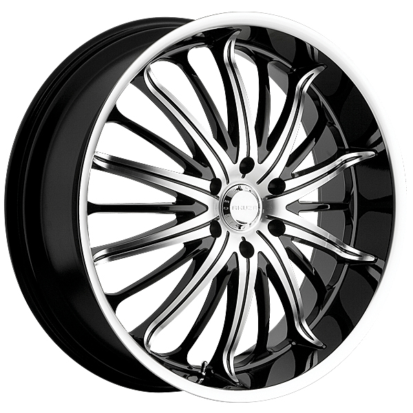 "20"" Akuza Road Concepts Series 761 Black and Machined Package"