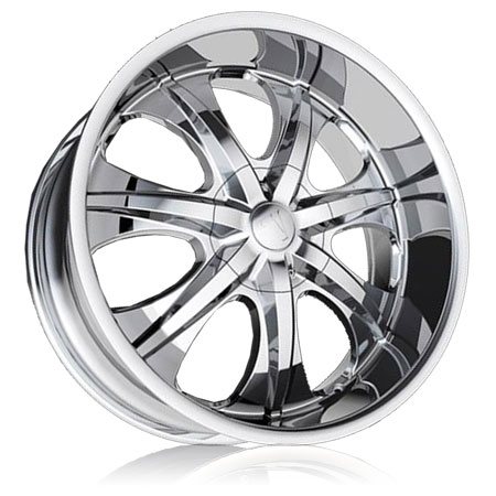 """24"""" Velocity Series 725 Chrome Package"""