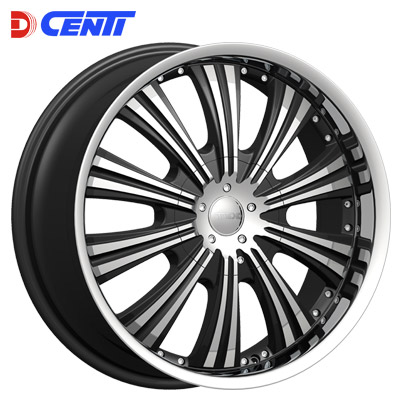 "24"" Dcenti Series 909 Black and Machined Package"