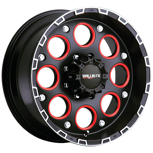 "17"" Ballistic Offroad Series 813 Black w/ 33"" Tires Package"