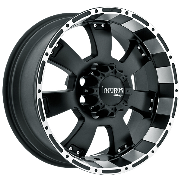"17"" Incubus Alloys Series 815 Black w/ 33"" Tires Package"