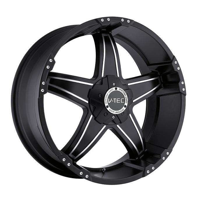 "17"" V-TEC Series 395 Black w/ 33"" Tires Package"