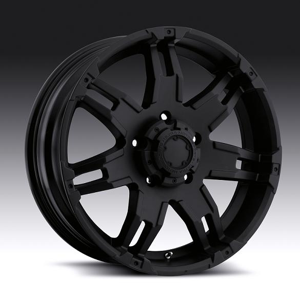 """17"""" Ultra Series 238 Matte Black Gauntlet w/ 33"""" Tires Package"""