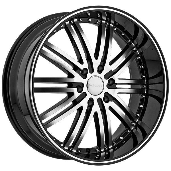 "22"" Menzari Series Z08 Black Package"