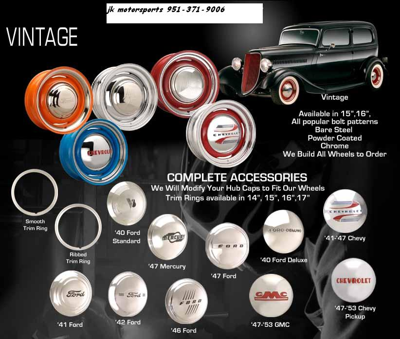 Vintage Wheels Chevy Ford Mercury