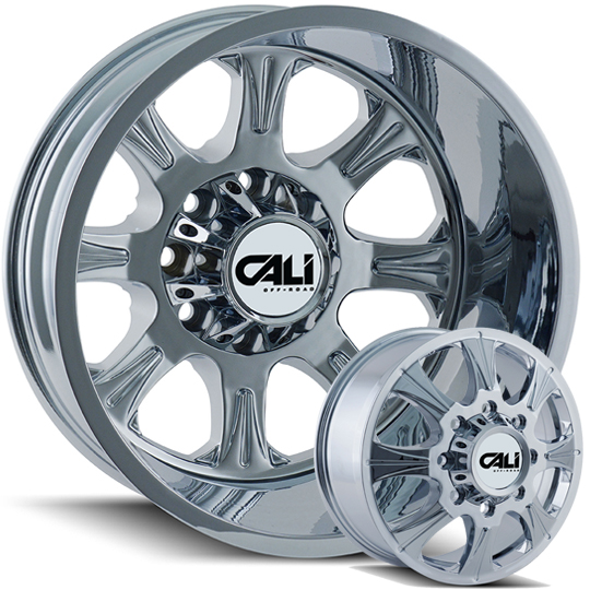 Cali Offroad Brutal 20 Quot And 22 Quot Chrome Dually Wheels Wheels Jk Motorsports