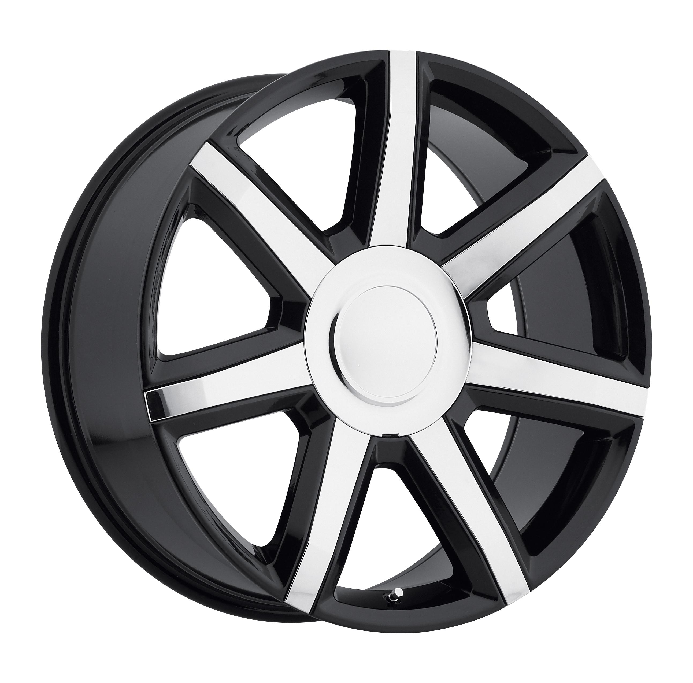2015 Cadillac Escalade Luxury Black w/ Chrome Inserts Replicas