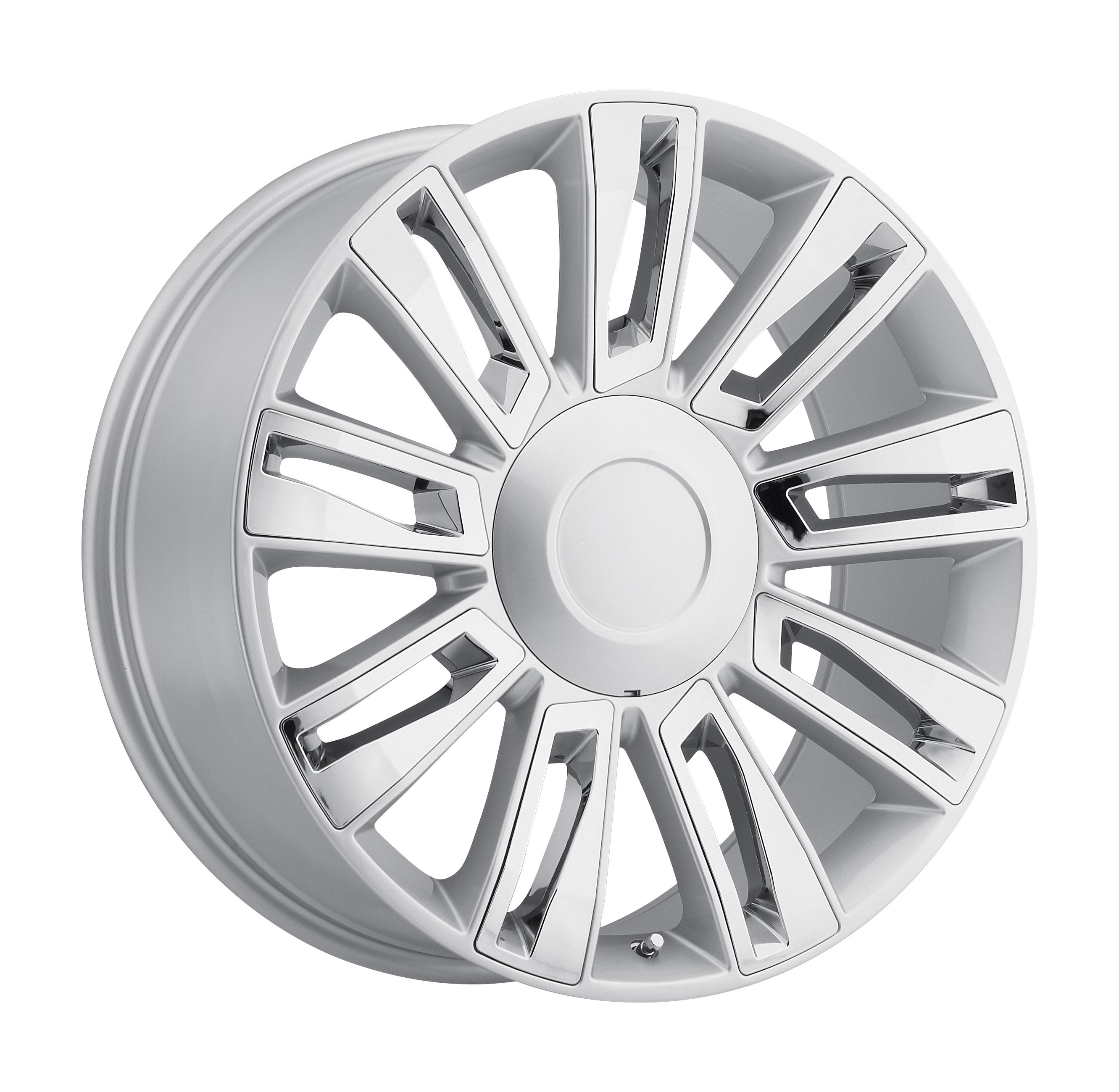 2015 Cadillac Escalade Option 3 Silver w/ Chrome Inserts Replicas