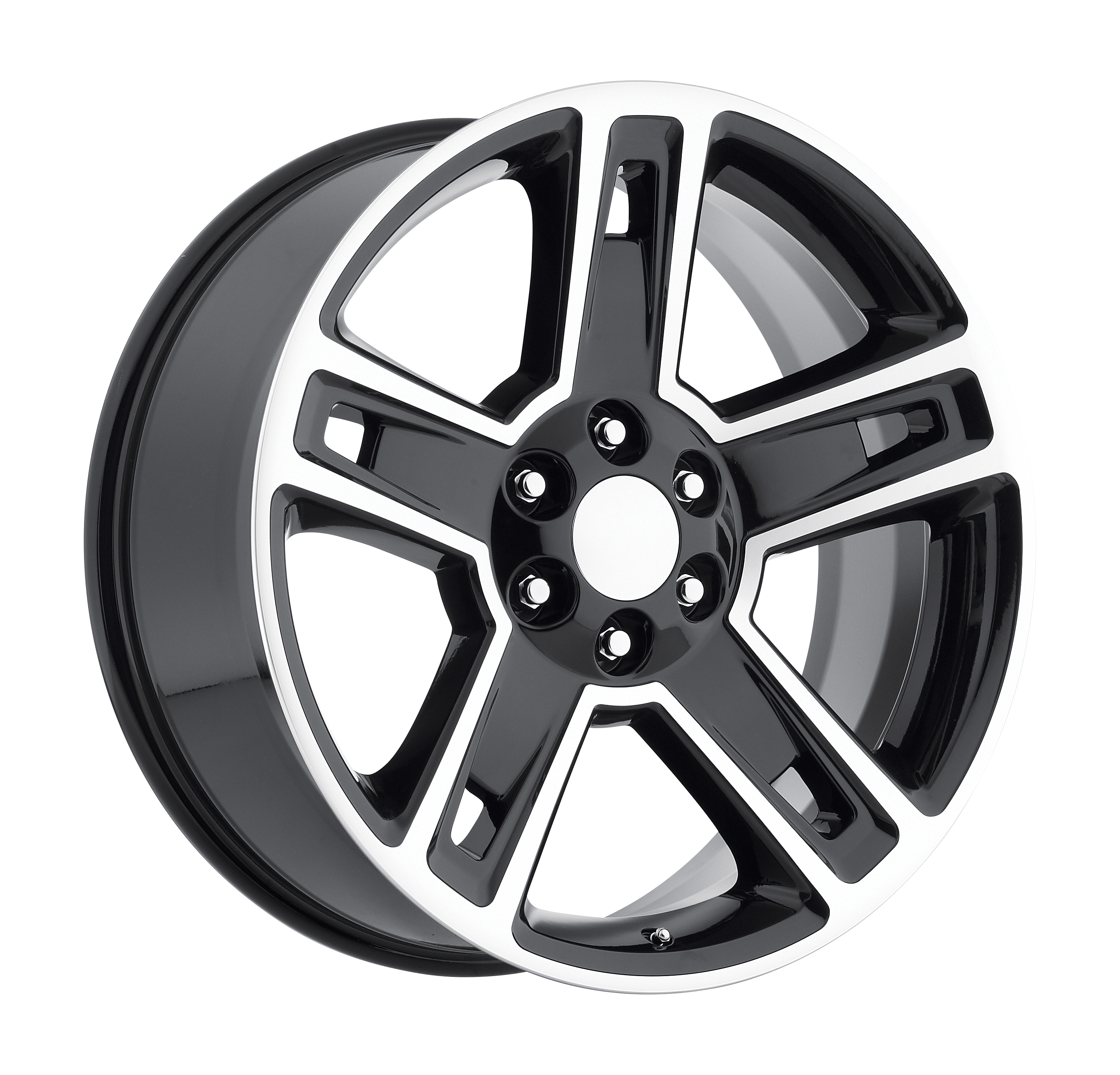 2015 Chevrolet Silverado 1500 Black Machined Face Replicas