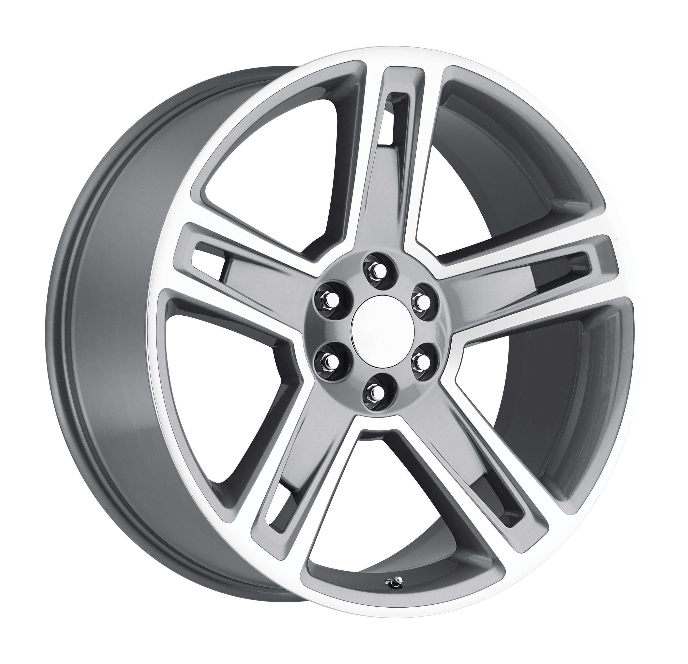 2015 Chevrolet Silverado 1500 Grey Machined Face Replicas