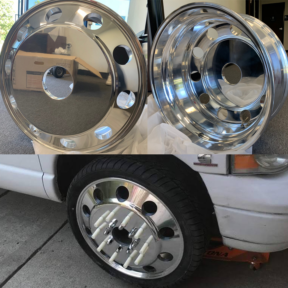 24x8.25 Classics Direct Bolt Phantom 10 Lug Dually Wheels Package