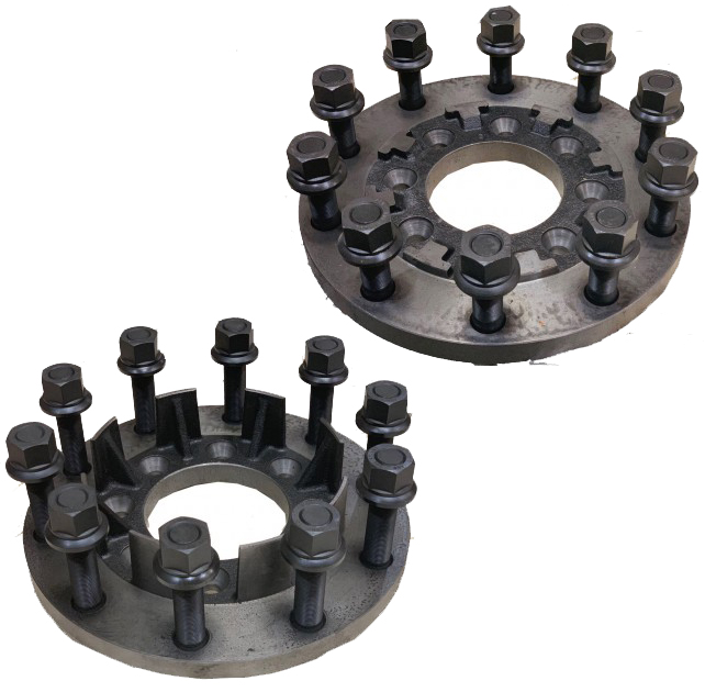8 To 10 Lug Steel Dually Wheel Adapters Set