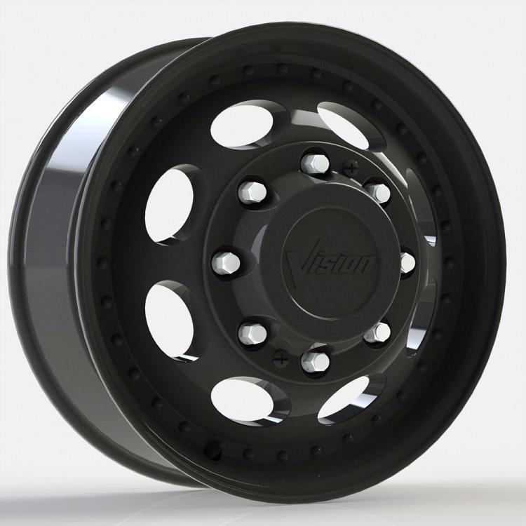 vision heavy hauler matte black    dually wheels wheels jk motorsports