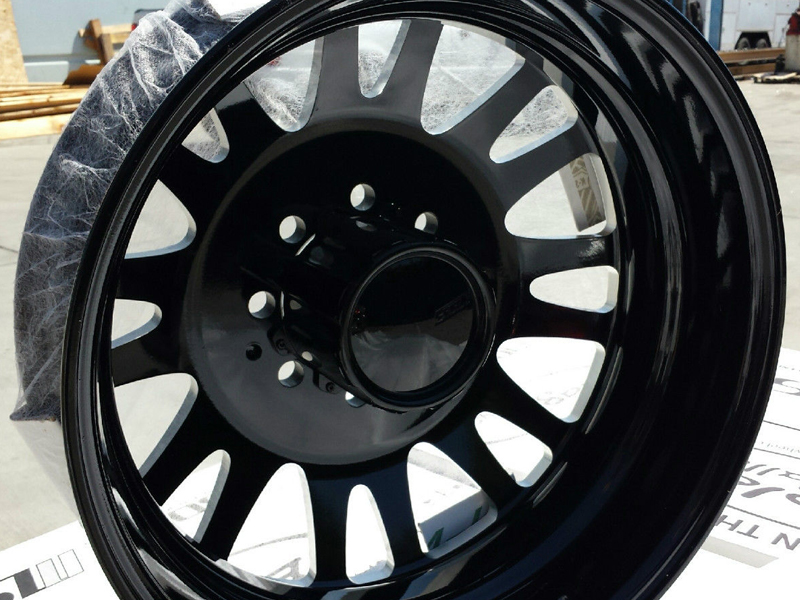 "American Eagle Wheels 19.5"" 0569 Dually Gloss Black Milled ..."