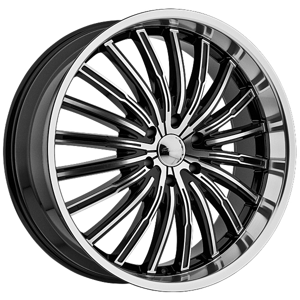 "22"" Panther Series 915 Black and Machined Package"