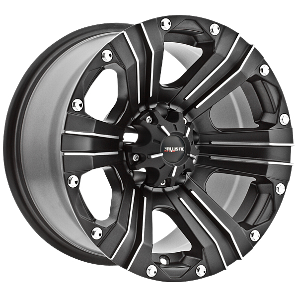 """17"""" Ballistic Offroad Series 902 Black w/ 33"""" Tires Package"""