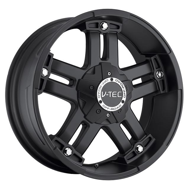 """17"""" V-TEC Series 394 All Black w/ 33"""" Tires Package"""