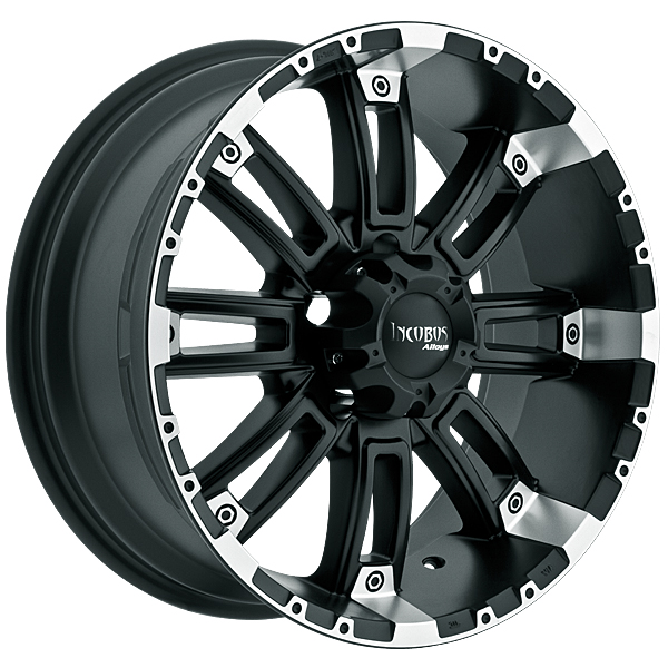 """18"""" Incubus Alloys Series 816 Black w/ 33"""" Tires Package"""