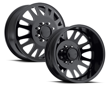 American Eagle Wheels 19 5 Quot 0569 Dually Gloss Black Milled Windows Wheels Jk Motorsports