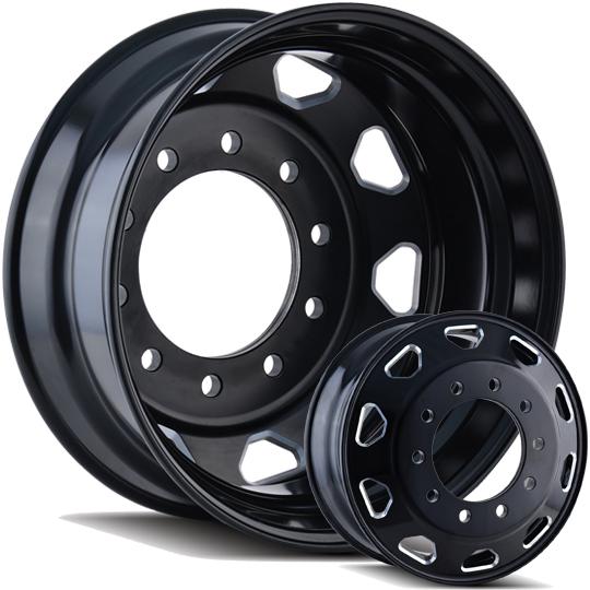Ion Alloy Ib02 Semi Wheels Tires And Adapters 22 5 Or Cut 22 Dually Wheels Wheels Jk Motorsports