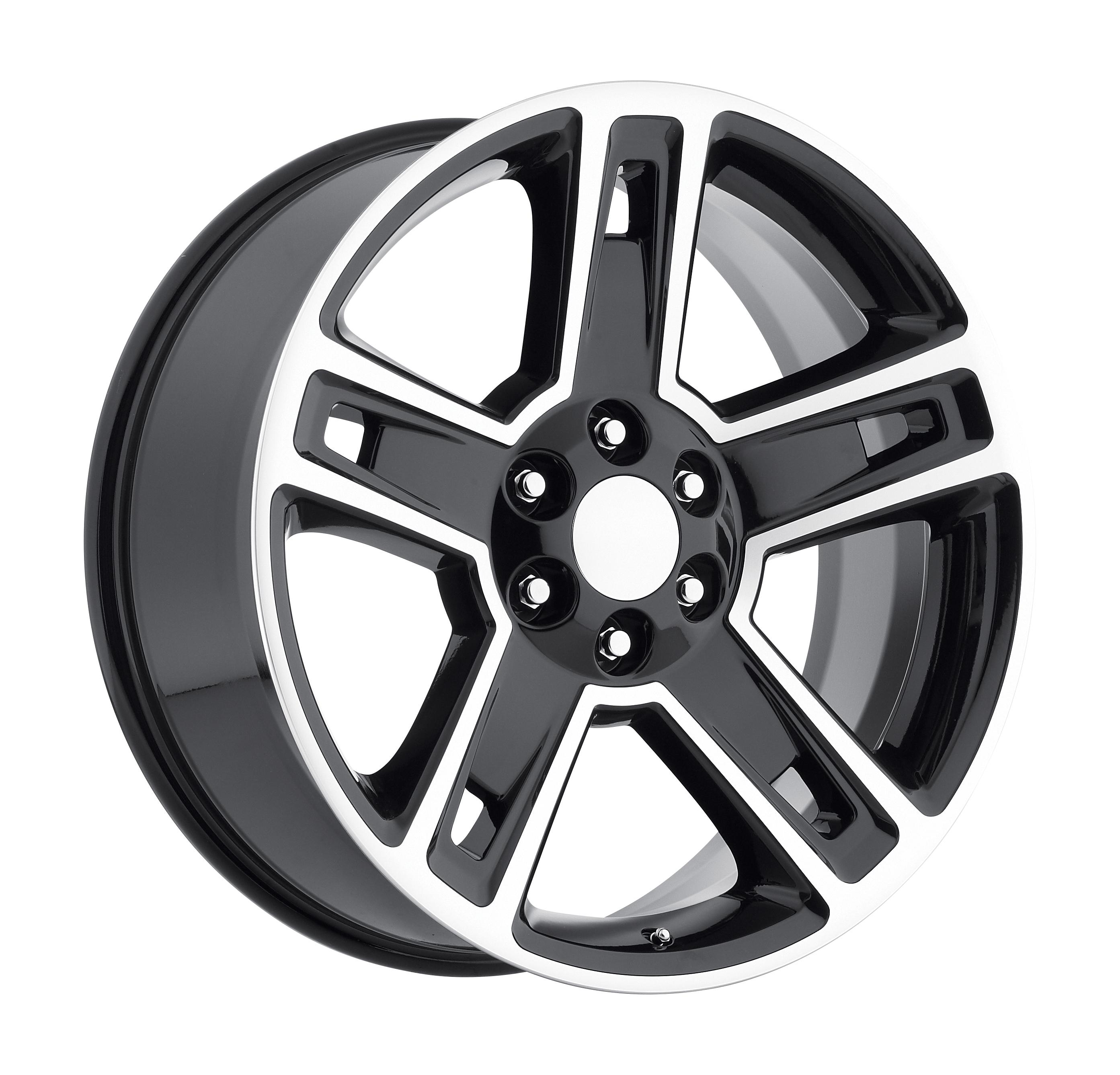 2015 Chevrolet Silverado 1500 Black Machined Face Replicas Wheels